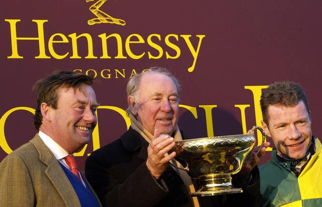 Nicky Henderson won a first Hennessy Gold Cup with Trabolgan and this year saddles Whisper and Vyta Du Roc