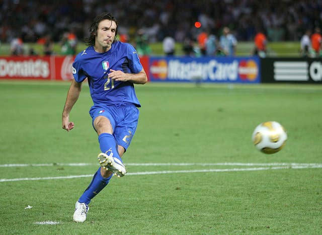 Andrea Pirlo helped Italy beat France on penalties in the 2006 World Cup final