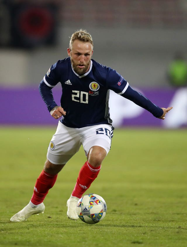Johnny Russell in action for Scotland