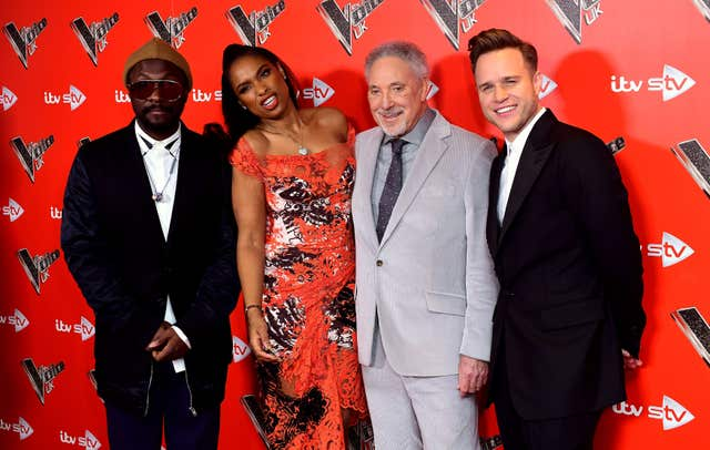 The Voice coaches (Ian West/PA)