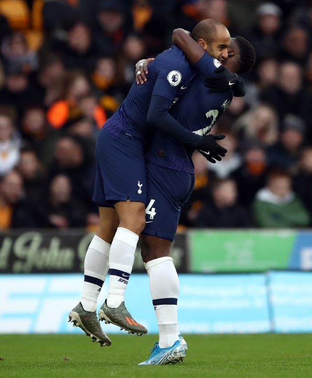 Lucas Moura opened the scoring for Tottenham