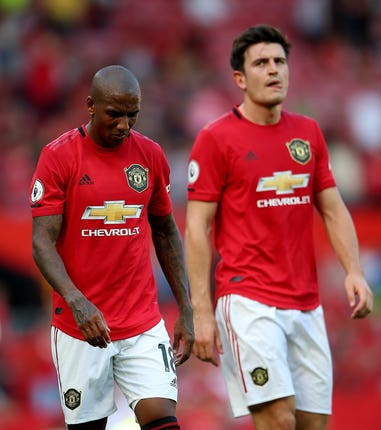 Manchester United's Ashley Young and Harry Maguire reflect on their defeat