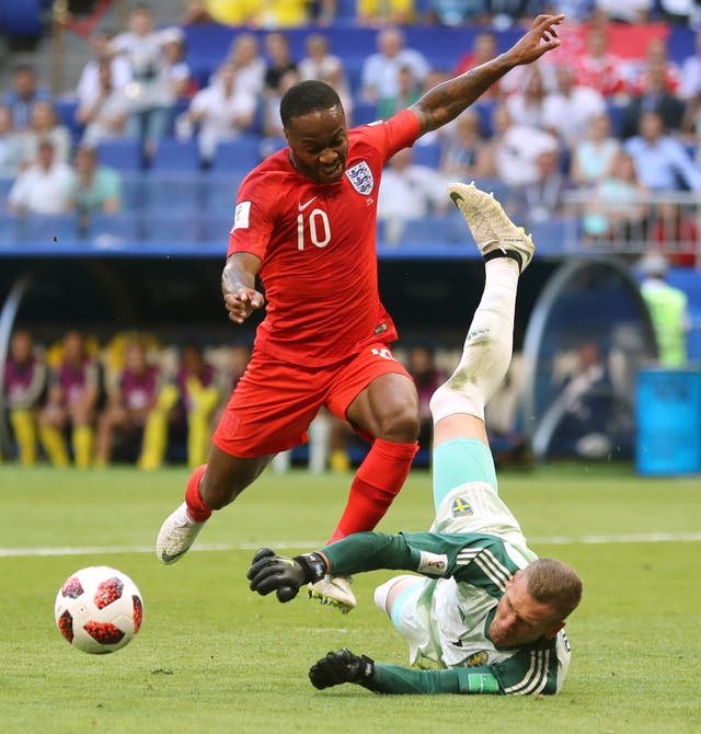 Raheem Sterling's finishing was scrutinised at the World Cup