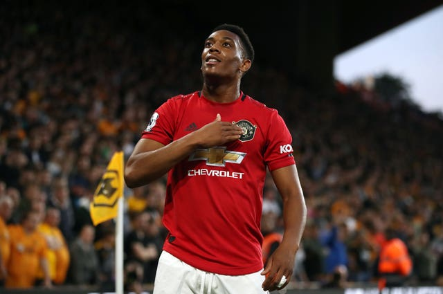 Anthony Martial made his return from the bench against Liverpool on Sunday