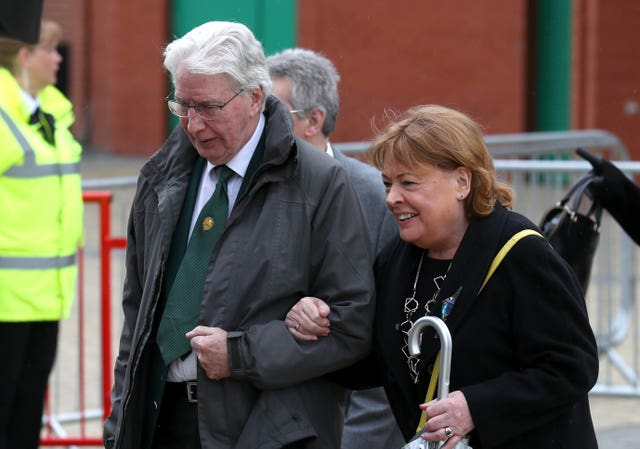 Stevie Chalmers Funeral – St Mary's Church