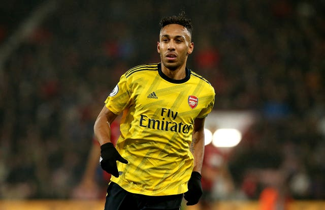 Pierre-Emerick Aubameyang has 18 months left on his Arsenal contract