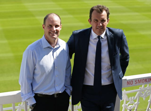 ECB chief executive Tom Harrison, right, alongside Andrew Strauss