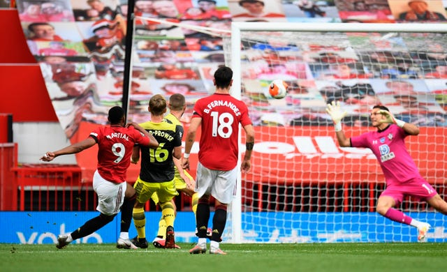 Anthony Martial's fine goal put the home side in front
