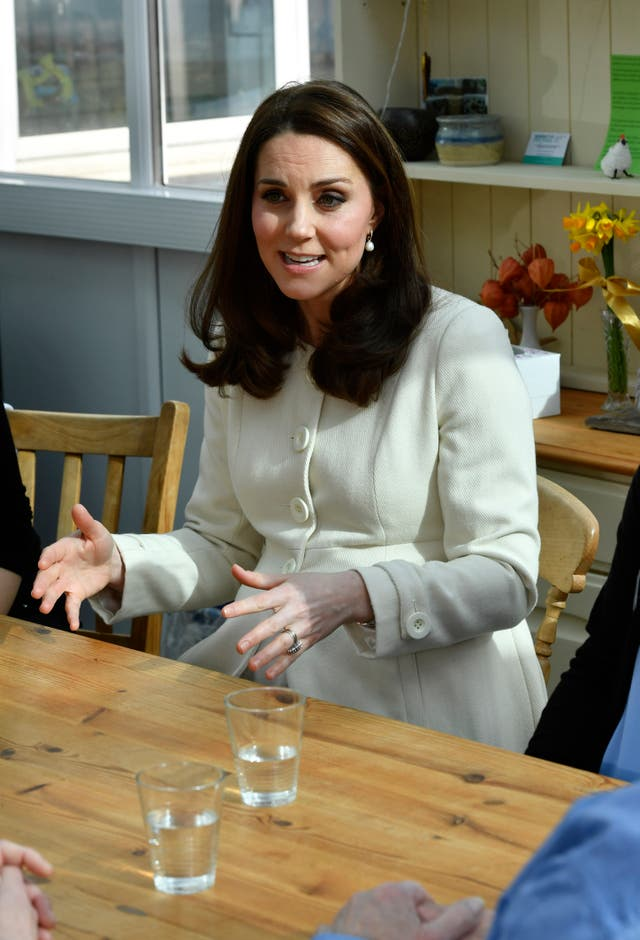The Duchess of Cambridge learned about the work of the charity Family Links (Arthur Edwards/Sun/PA)