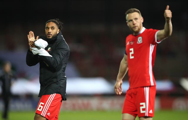 Ashley Williams, left, could return to the starting line-up for Wales