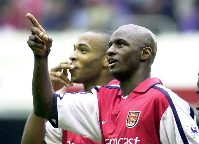 Former Arsenal captains Thierry Henry (left) and Patrick Vieira - as well as Dennis Bergkamp - have been linked with a role in a potential take over of the club.