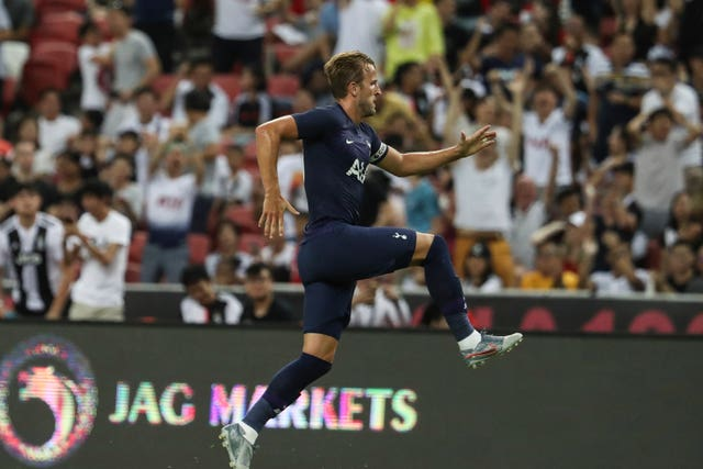 Harry Kane scored from the halfway line in stoppage time as Tottenham beat Juventus in a pre-season friendly