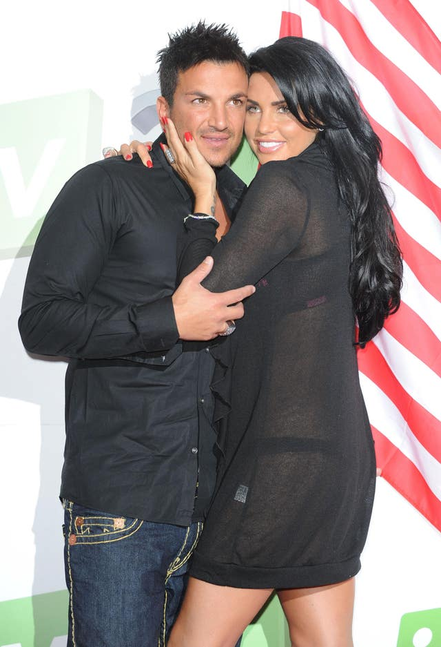 Katie Price and Peter Andre photocall
