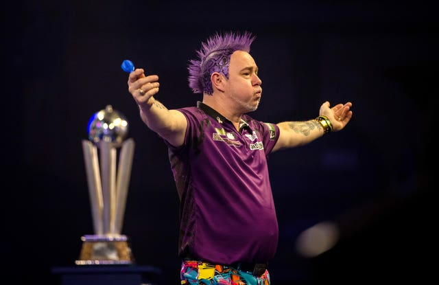 Peter Wright won the .PDC World Championship in January (Steven Paston/PA).
