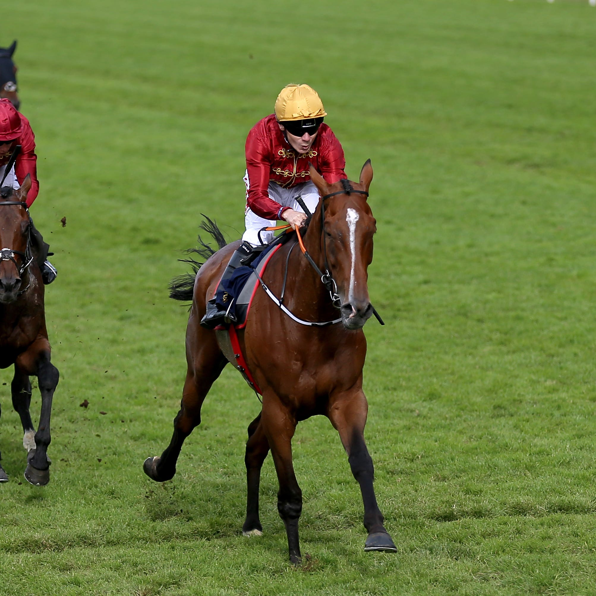 Pallasator wins the concluding Queen Alexandra Stakes at Royal Ascot