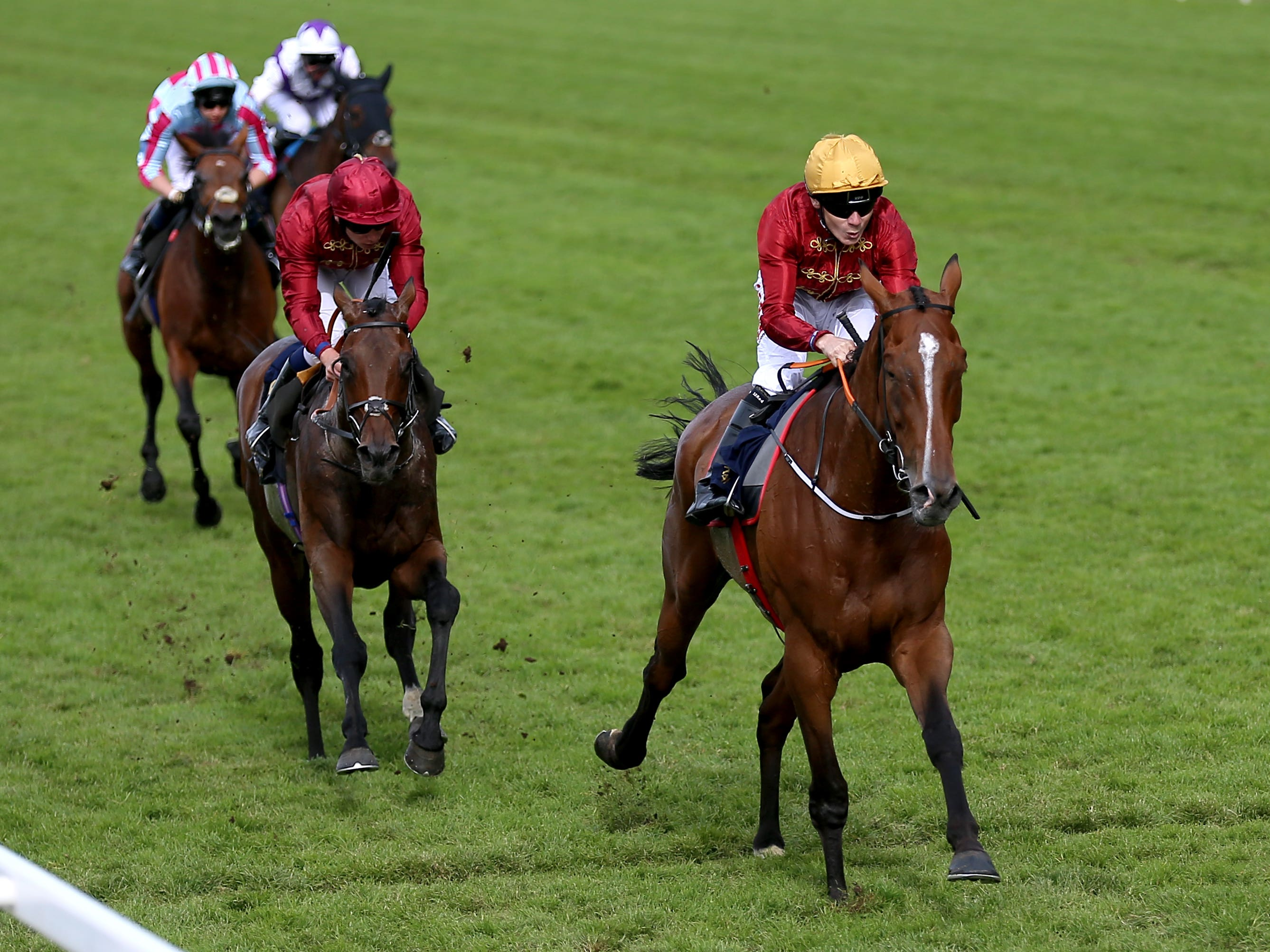 Pallasator wins the concluding Queen Alexandra Stakes at Royal Ascot (Nigel French/PA)