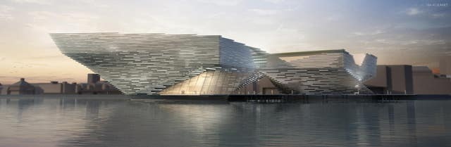 Kengo Kuma's design for the V&A Dundee