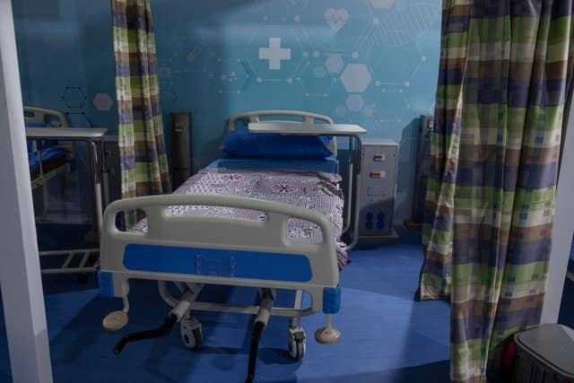 A hospital bed in Egypt