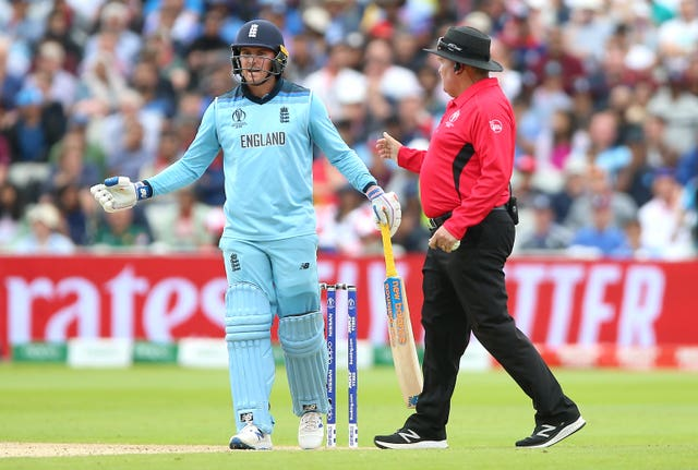 Jason Roy was left less than impressed by the decision which ended his innings