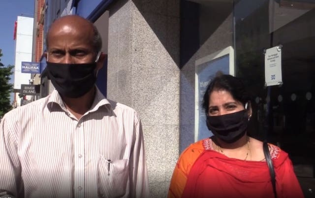 Venkata Reddy Nallamilli with his wife Padma