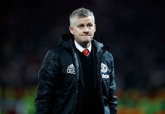 Ole Gunnar Solskjaer suffered his first loss as Manchester United interim manager against Paris St Germain (Martin Rickett/PA)