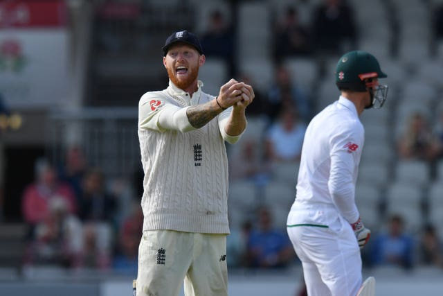 Ben Stokes celebrates a catch against South Africa in 2017 at Old Trafford