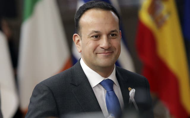 Irish Prime Minister Leo Varadkar arrives for the EU summit in Brussels (AP Photo/Olivier Matthys)