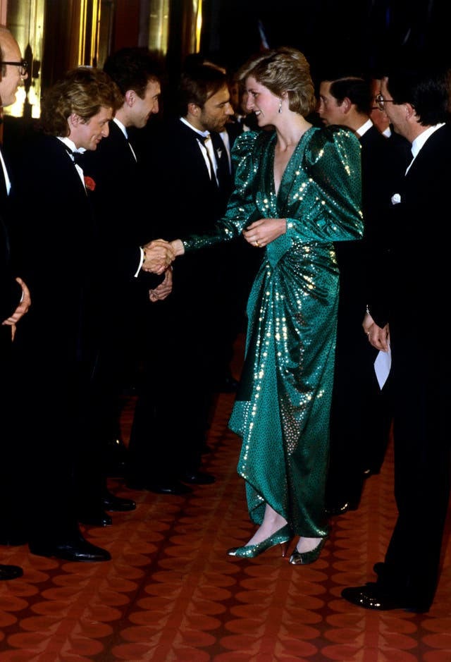 Diana attending the 'Biggles' premiere at the Empire Cinema, Leicester Square