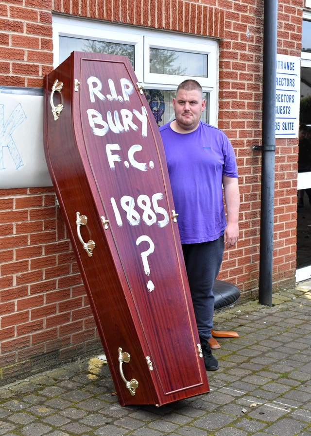 Bury's fans are worried