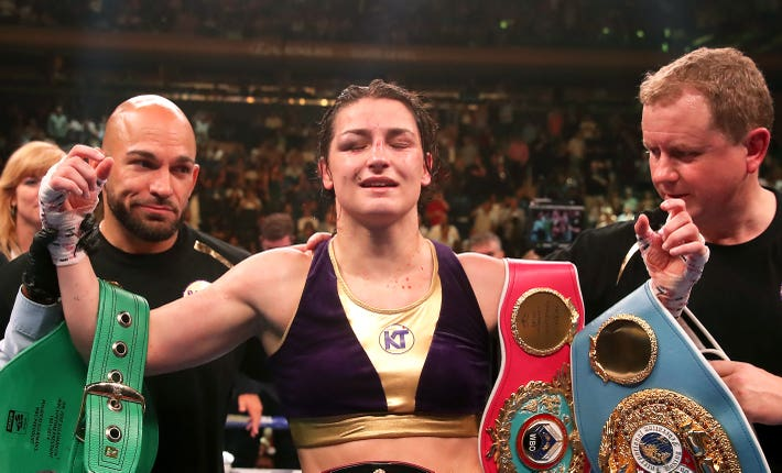Katie Taylor wants to take on Delfine Persoon again and Amanda Serrano next year (Nick Potts/PA).