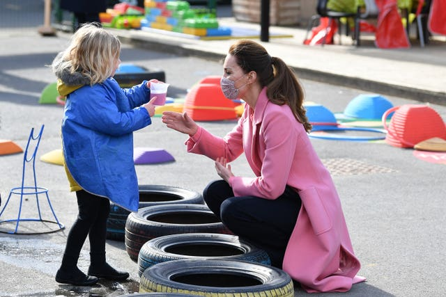 Duke and Duchess of Cambridge school visit