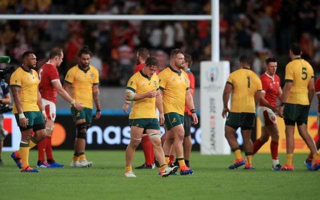Australia were beaten by Wales in the pool stage