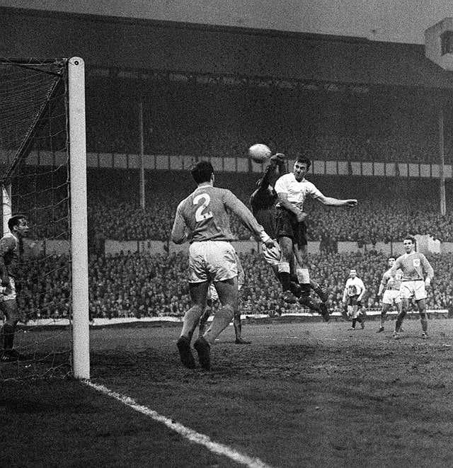 Jimmy Greaves during his Tottenham debut against Blackpool in December 1961