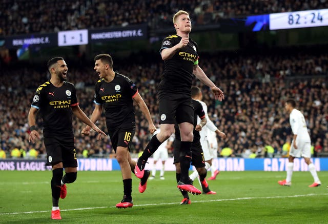 City beat Real Madrid 2-1 in the first leg of their Champions League tie