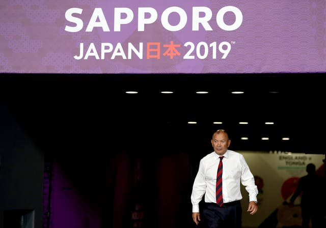 Eddie Jones' side's arrival in Japan was hit by Typhoon Faxai