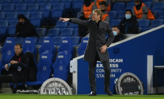 Graham Potter guided Brighton to a goalless draw at Chelsea in midweek