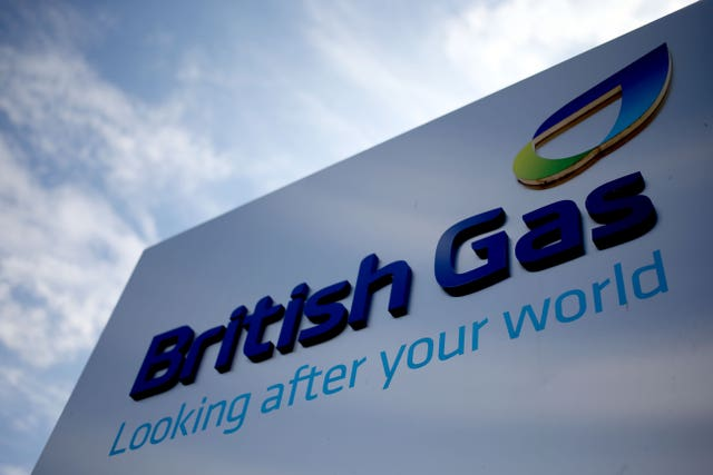 A British Gas sign (Steve Parsons/PA)