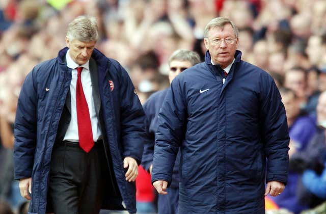Wenger and Sir Alex Ferguson battled for the Premier League title for years before later becoming friends.