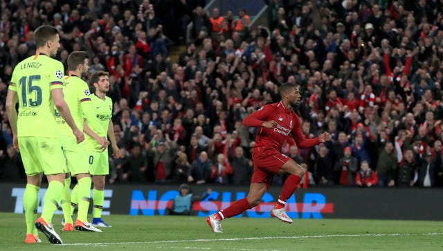 Georginio Wijnaldum came off the bench to inspire the turnaround at Anfield
