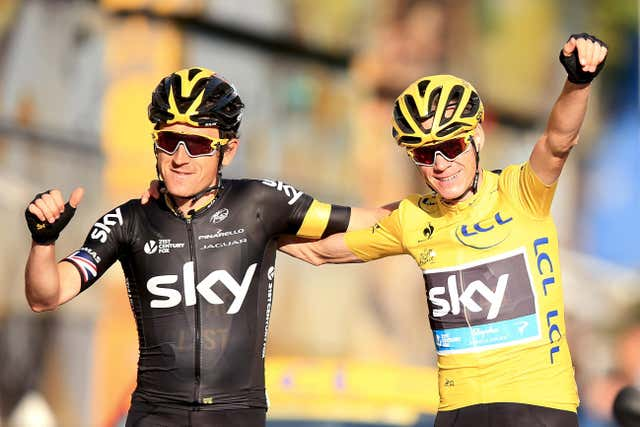 Geraint Thomas has supported Chris Froome in his four Tour de France victories