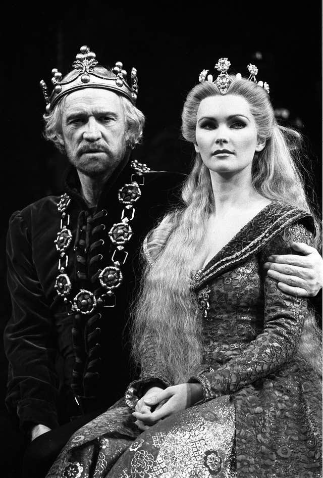 The King Arthur story has remained popular for centuries and actor Richard Harris, here with Fiona Fullerton as Queen Guinevere in 1982, played the mythical leader in the musical Camelot. (PA)