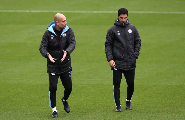 Mikel Arteta worked alongside Pep Guardiola at Manchester City