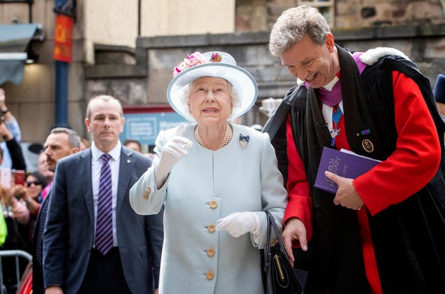 Queen and Reverend Neil Gardner
