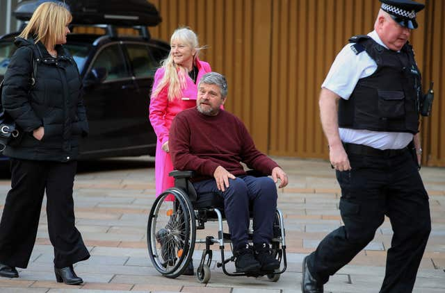 Highways officer Paul Holroyd was left paralysed (PA)