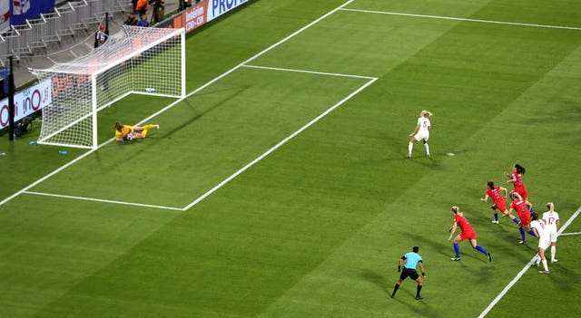 Houghton's 84th-minute penalty was saved against the United States