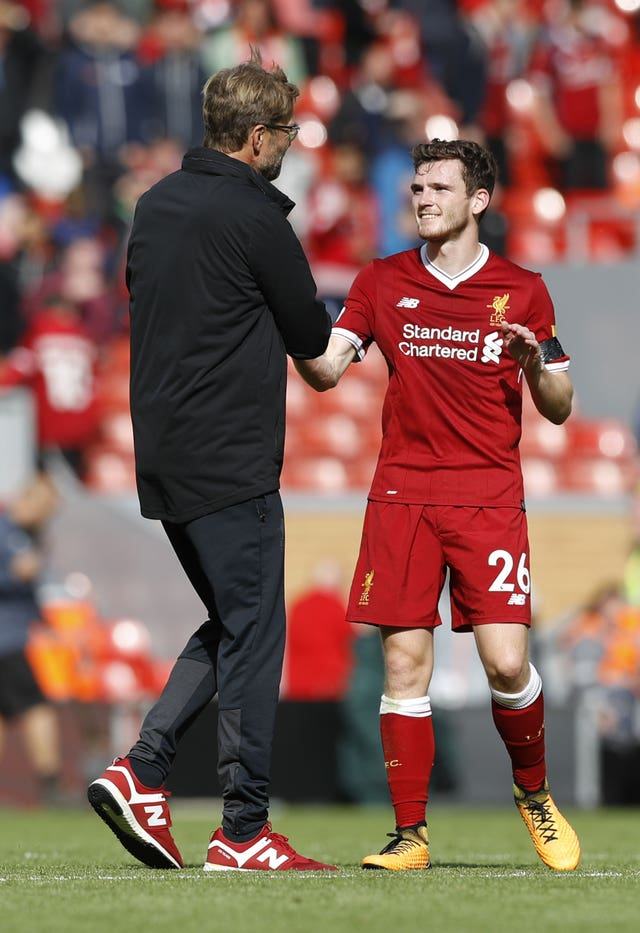 Jurgen Klopp heaped praise on Robertson for the progress he has made.
