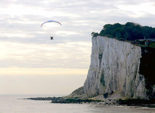 Sacha Dench at the White Cliffs of Dover
