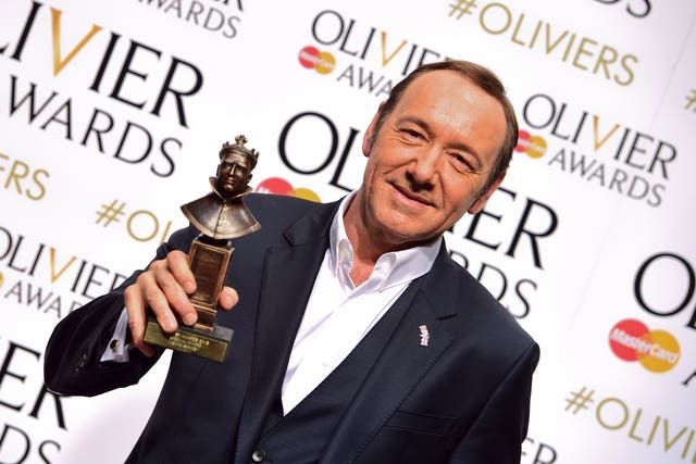 Kevin Spacey attending the Olivier Awards in 2015