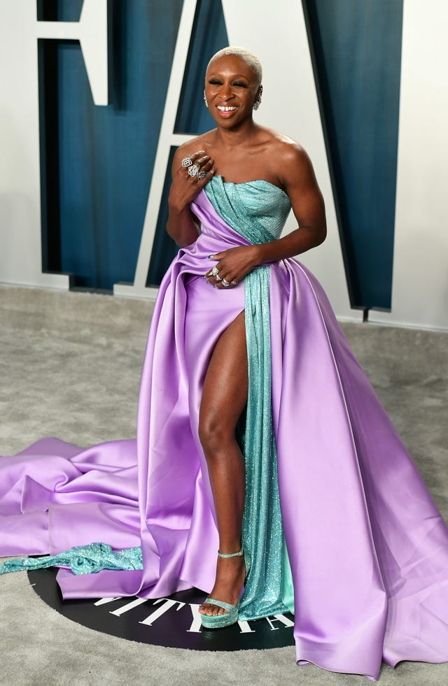Cynthia Erivo attending the Vanity Fair Oscar Party