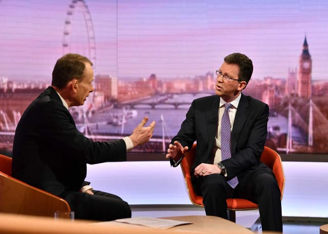 Jeremy Wright, talking about the backstop changes, said it wasn't the mechanism that matters but the objective (Jeff Overs/BBC)